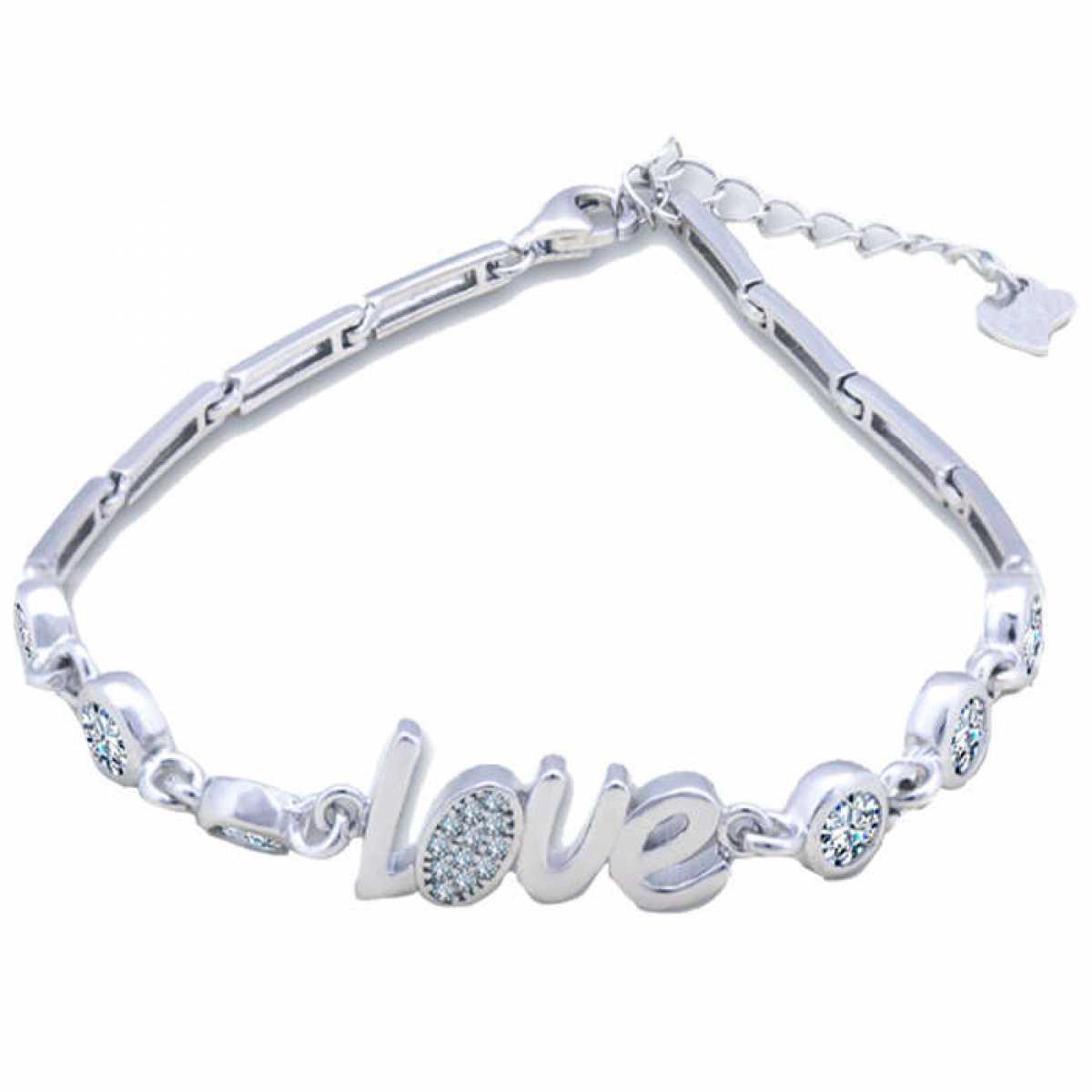 Lady 925 Silver Bracelet Love