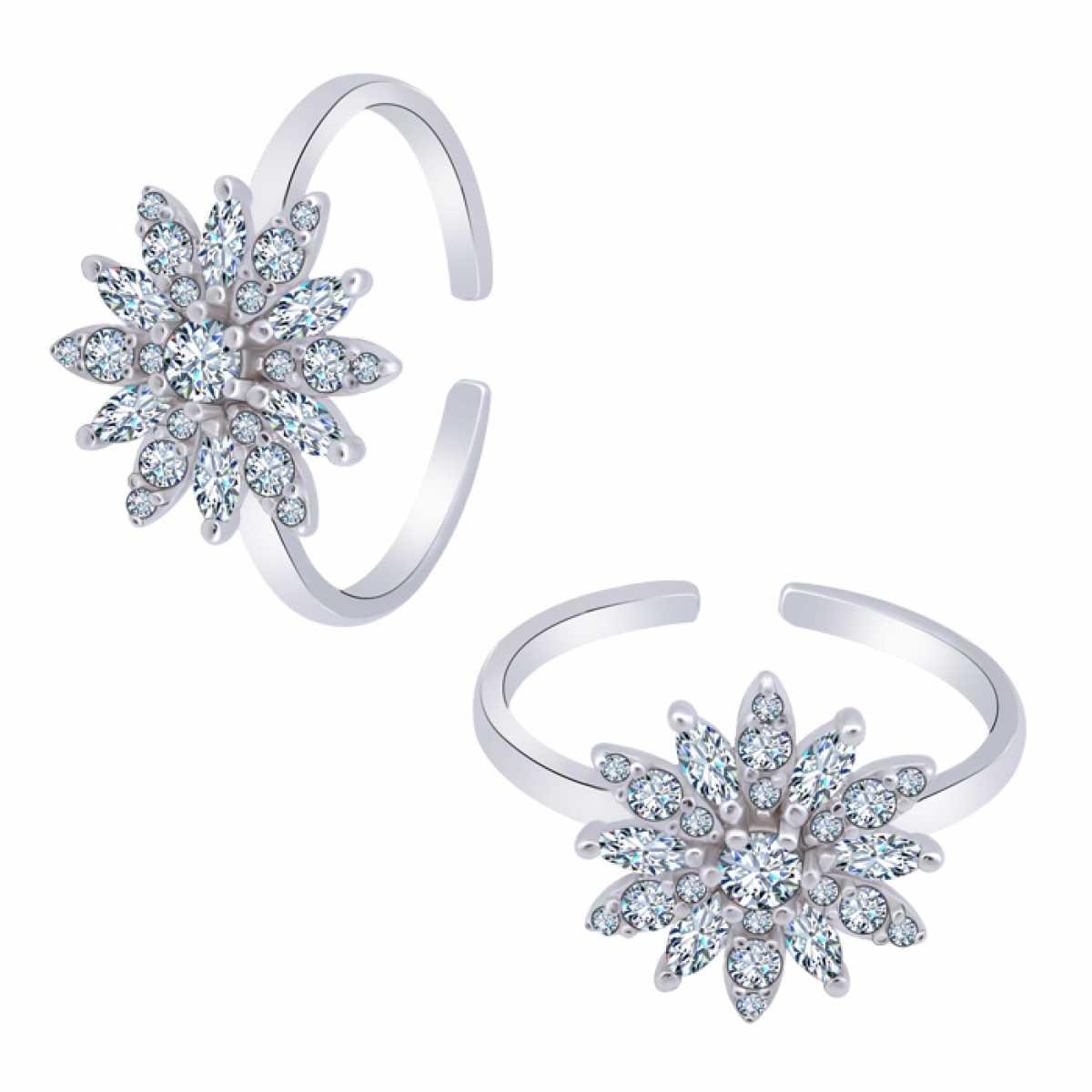 Sunflower Diamond Toe Ring