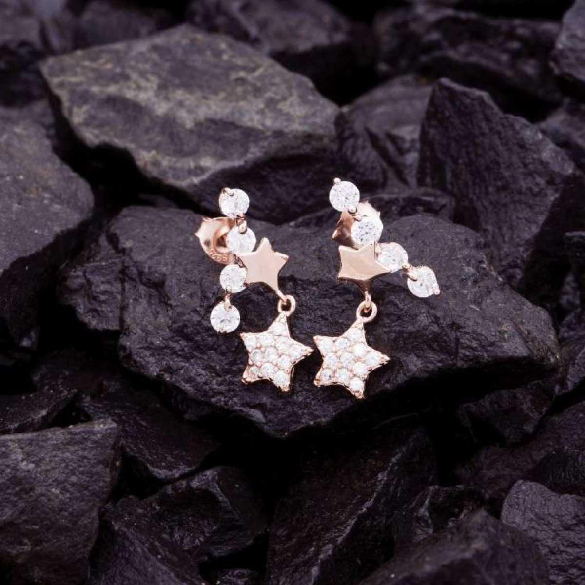 Rose Star Hanging Earring