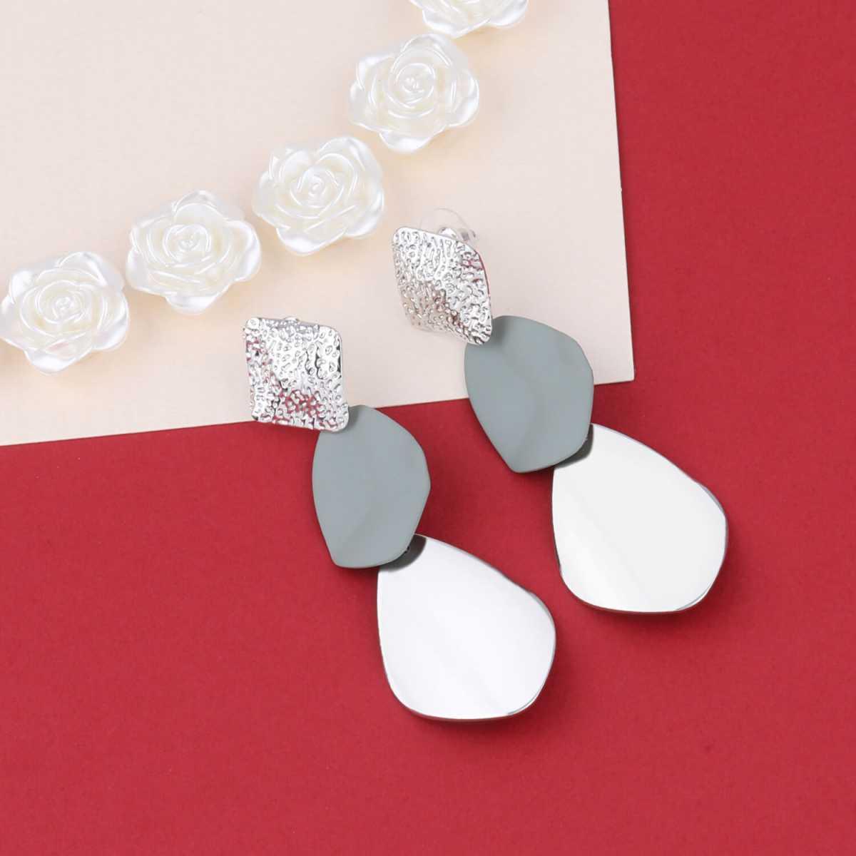SILVER SHINE Party Wear Dangle  Earring For Girl Women