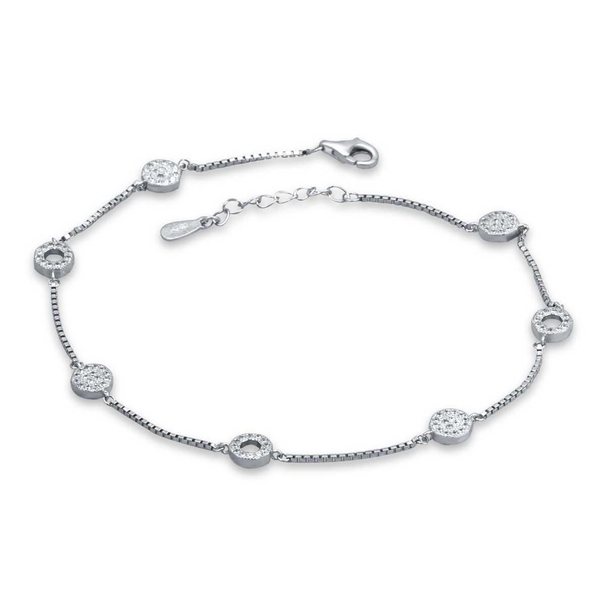 Charismatic Octagen Pave Diamond Anklet