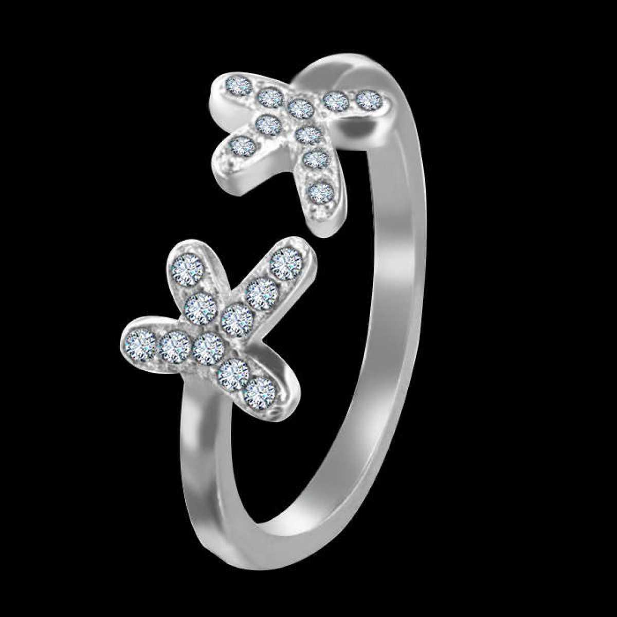 Finger shape sterling silver ring