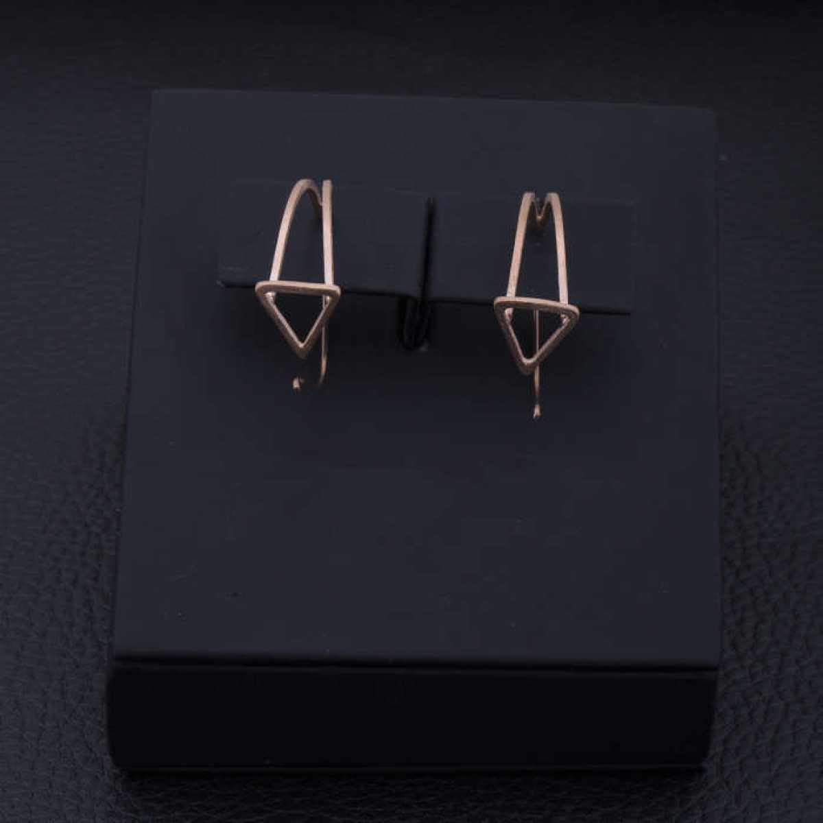 Rose Gold Triangle Earring