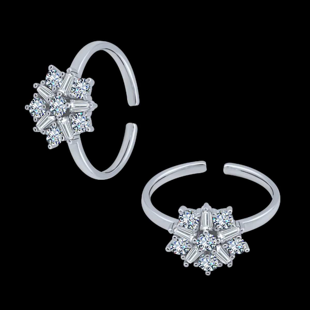 Star Diamond Silver Toe Ring