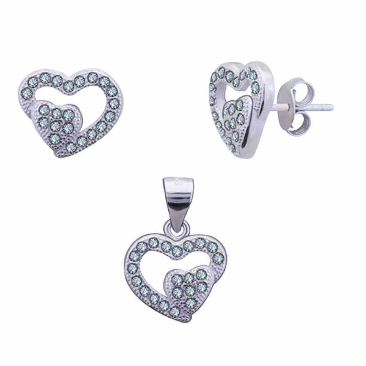 Small Heart Pendant Set