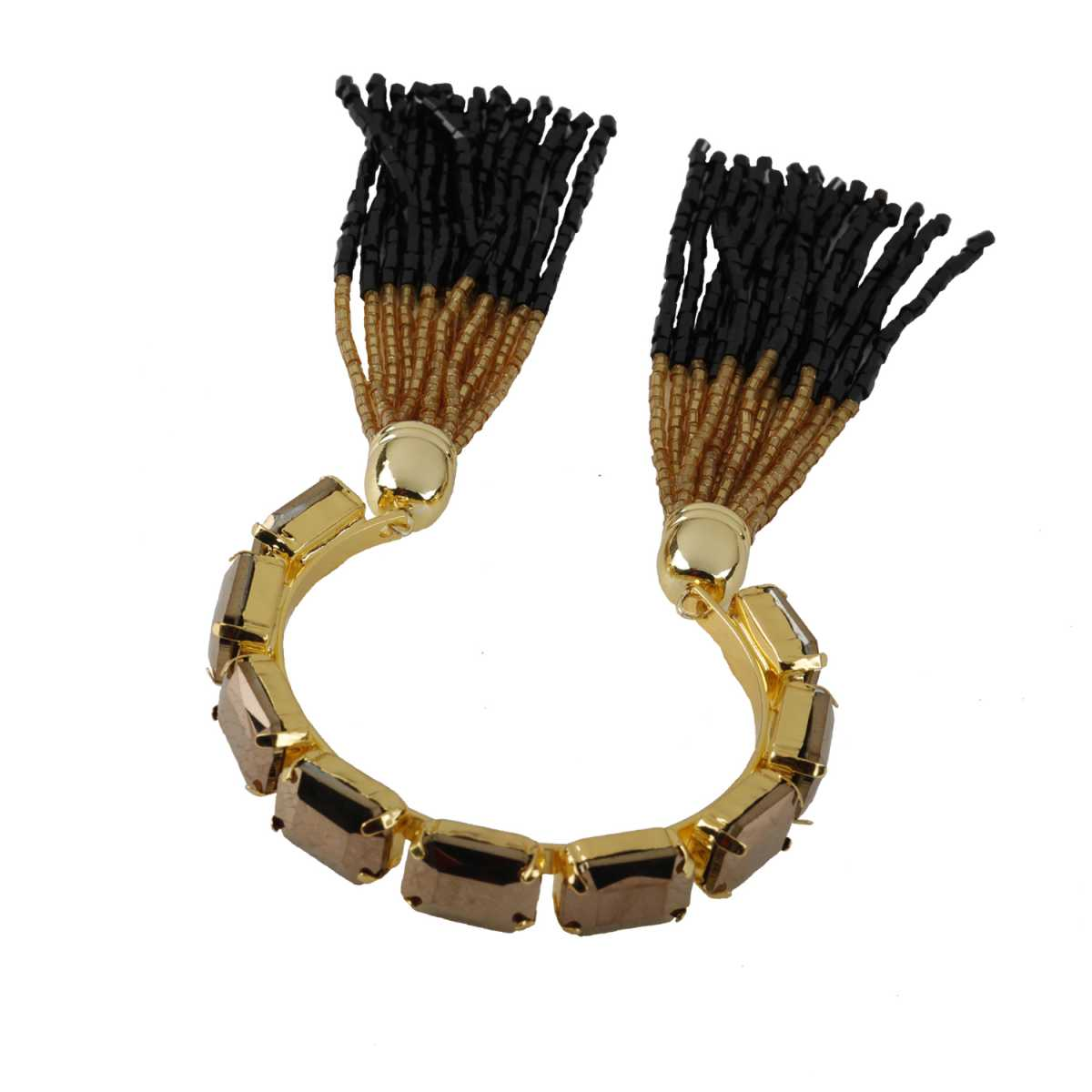 Elegant Brown Colour Stone Harmony Coff And Kada Bracelet For Girls And Women