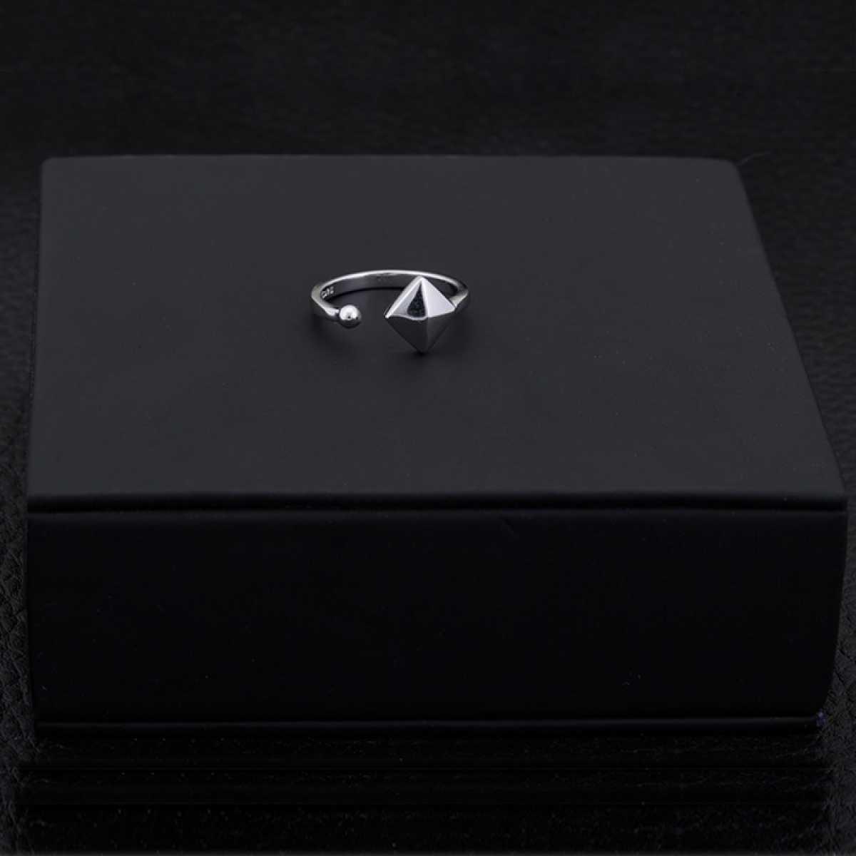 Pyramid  Silver Ring