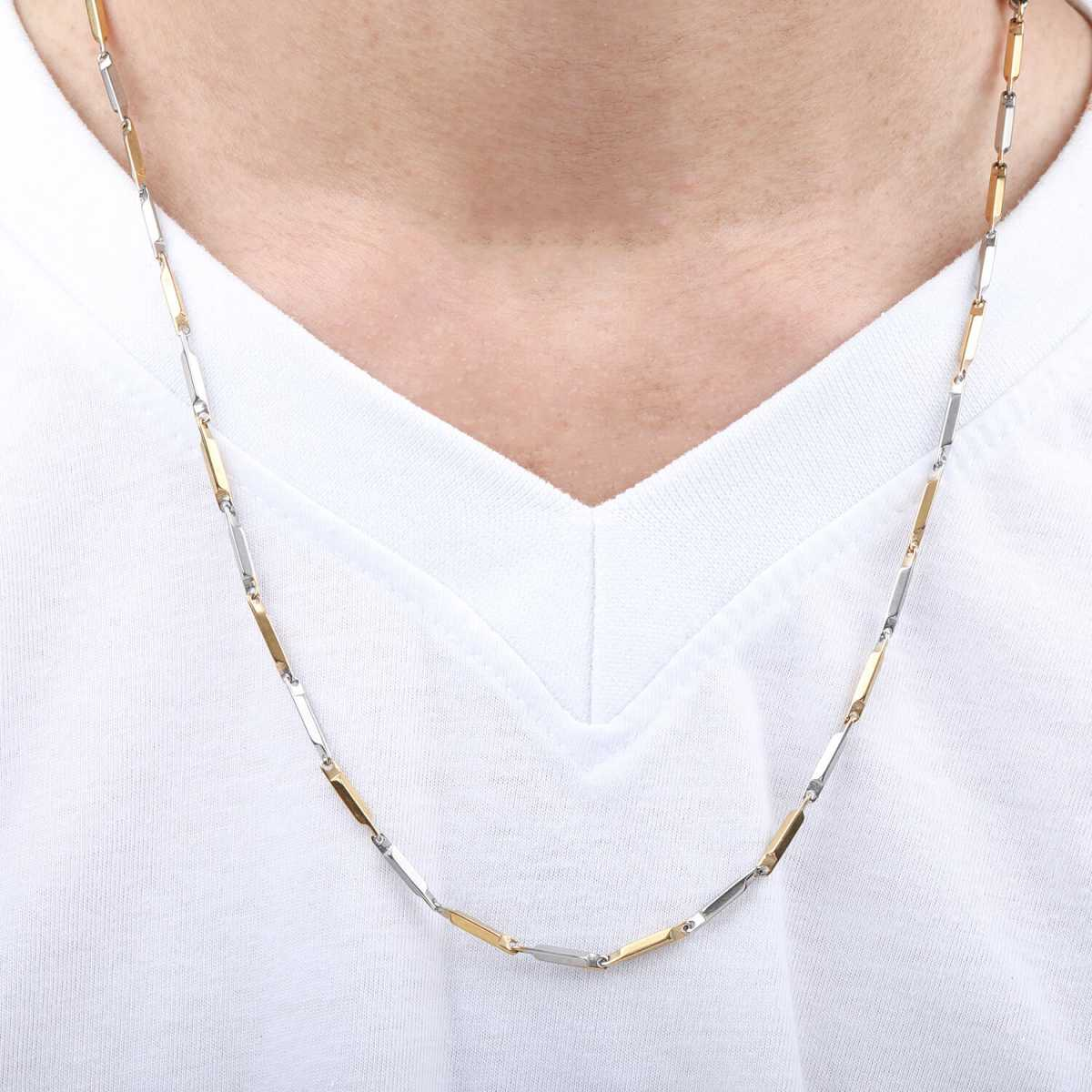 Silverplated Double colour cool chain for men and boy jewellery