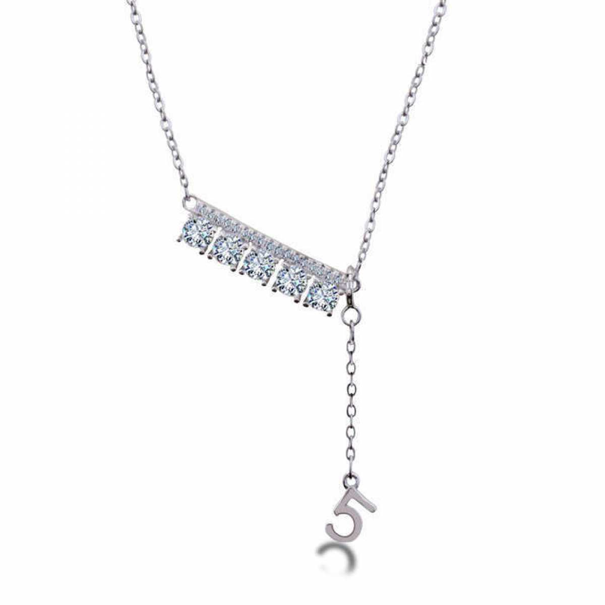 Hanging 5 Silver Diamond Chain