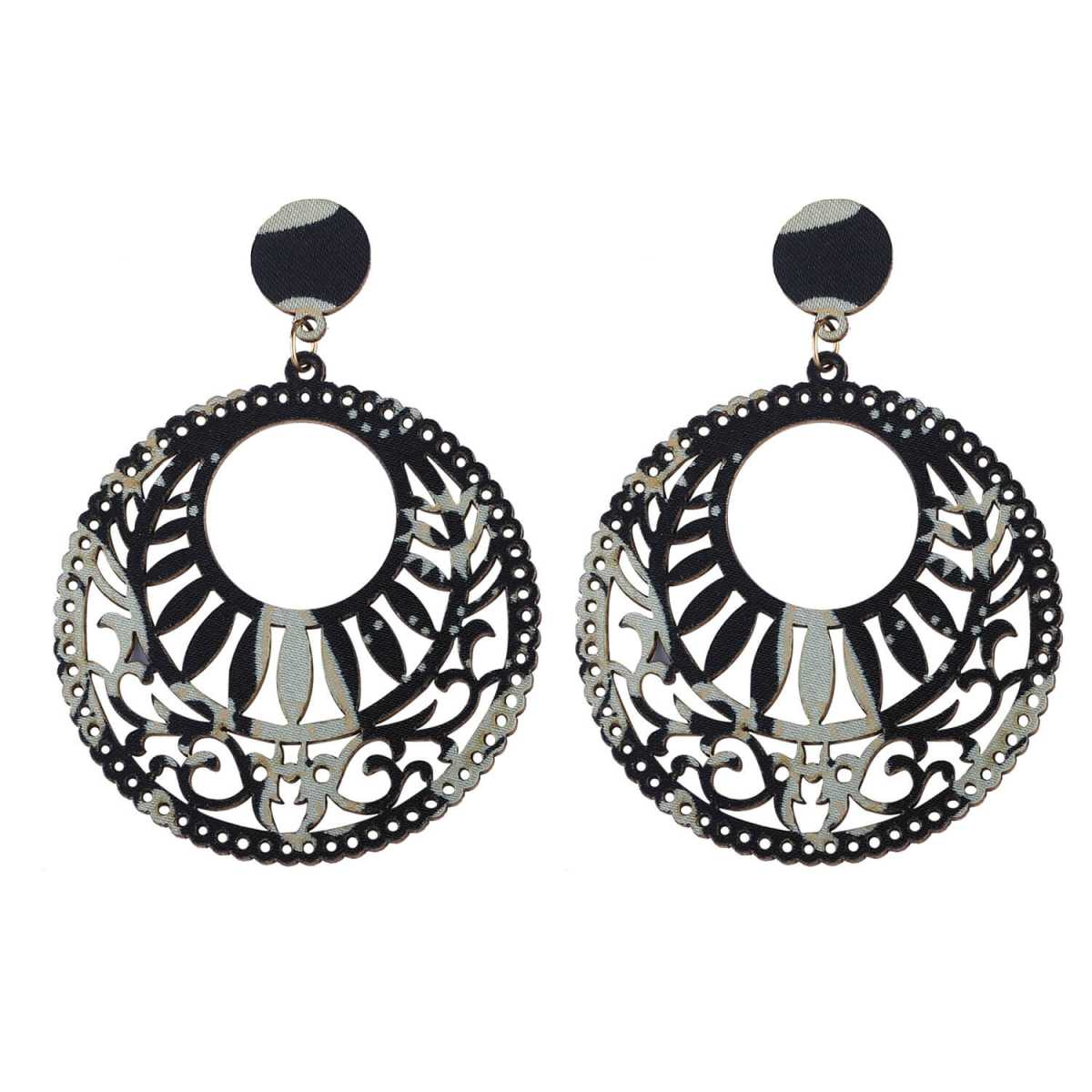 SILVER SHINE Ethnic Party Wear Dangler Wooden Earrings For Girls and Women …