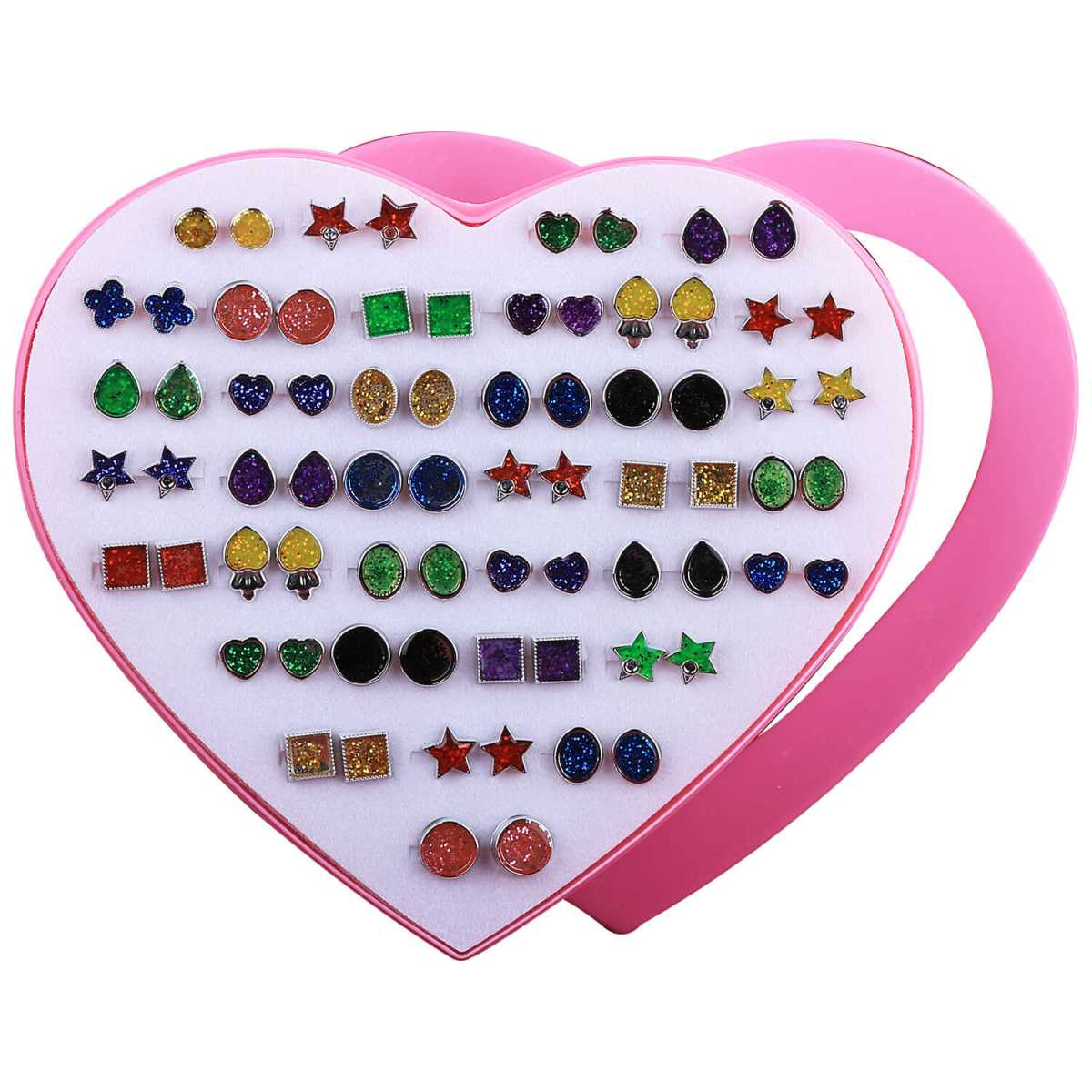 Silver Shine charm Golden And Multi colour Earring , Set of 36 Earrings for Womens And girls.