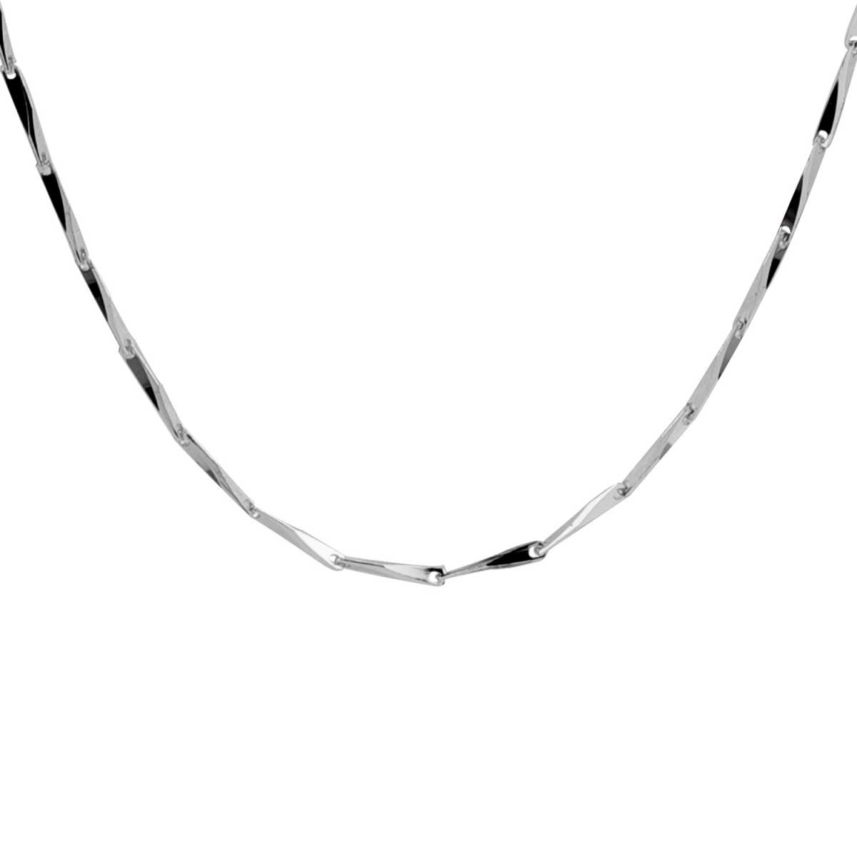 Silver Shine Spunky Silver Rice Shape Chains Neckless Link chain jewellry for Girls/Boys/Men And Women