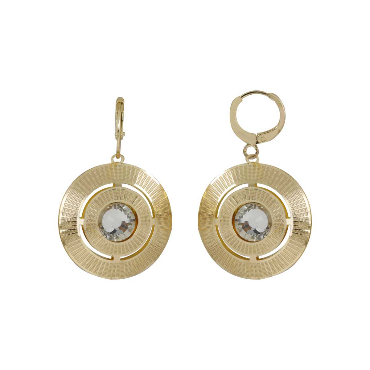 Silver Shine Voguish Golden Round Clip On Bali Earring for Women