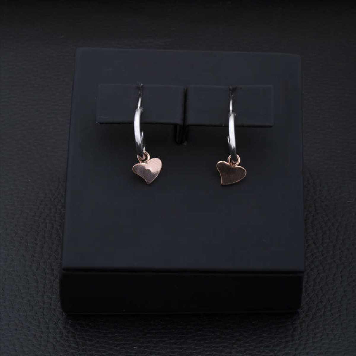 Heart Shape Hanging Silver Earring