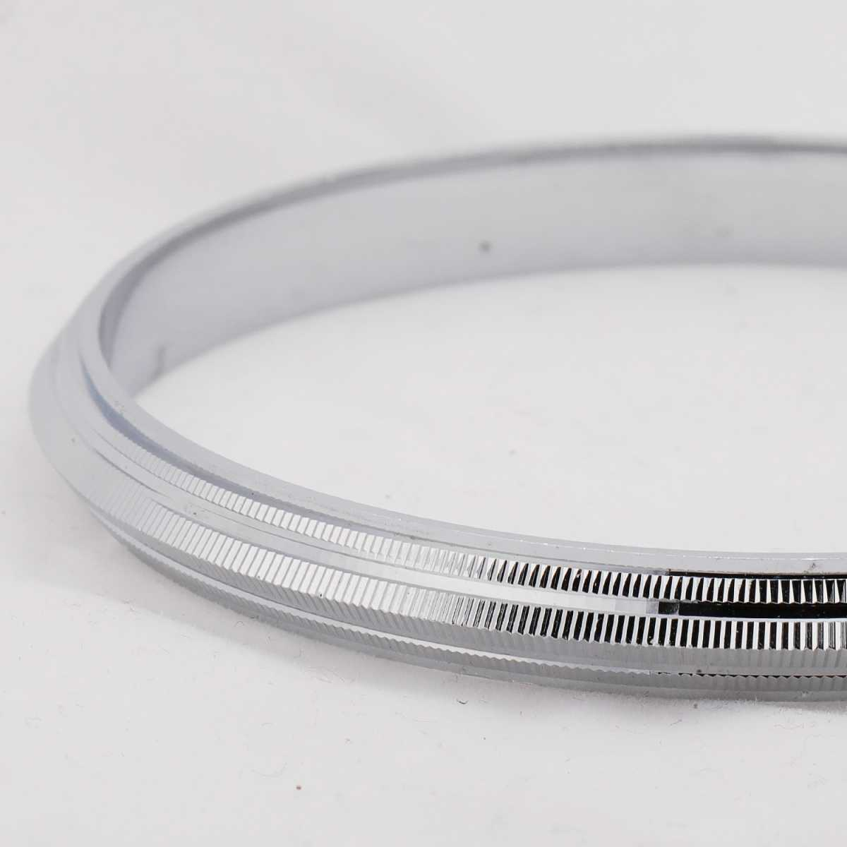 Silver Shine Silver Plated Unique  Punjabi Kada Bangle Bracelet For Boys and Mens.