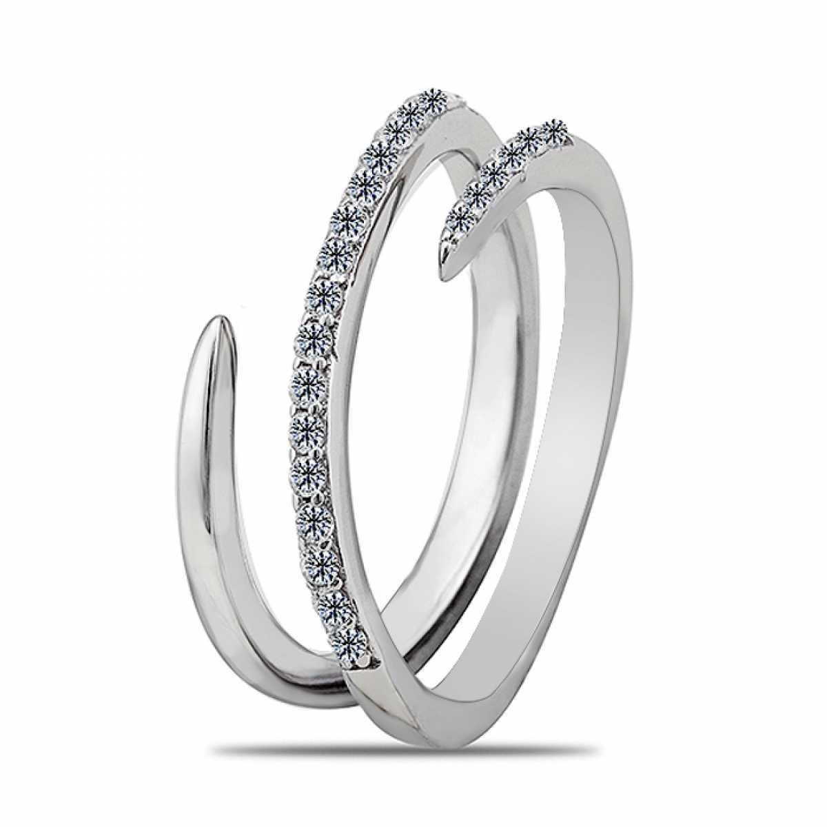 Strip Design Cocktail Ring
