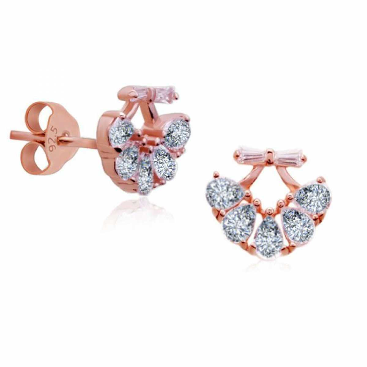 Four Stone Rose Earring