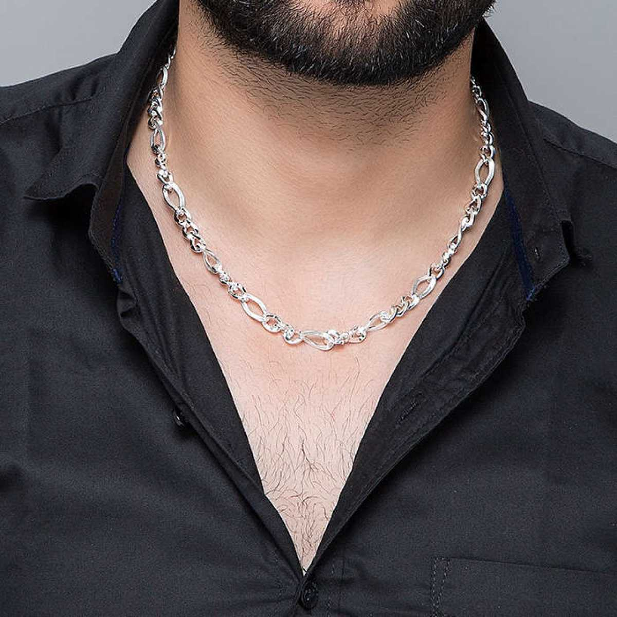 Engraved Sterling Silver Chain for Men