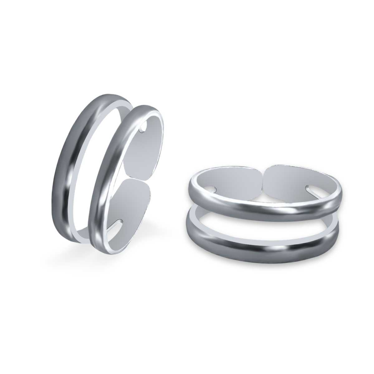 Gorgeous  Shinny Plain Twin  Toe Rings